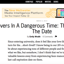 Thought Catalog - Op Article March 2014